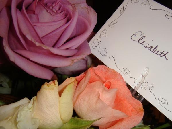 Blomster fra mamma og pappa